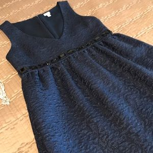 Fossil dress, navy blue metallic, size XS
